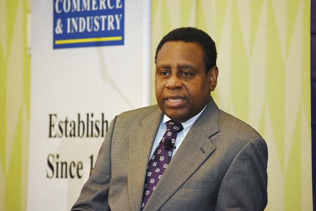 Governor of the Central Bank, Cleviston Haynes.