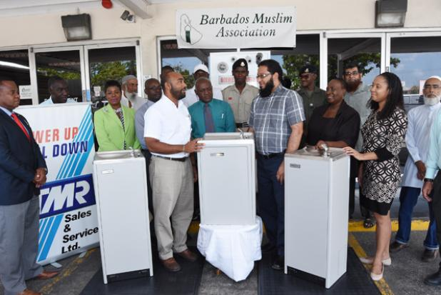 ellerslie muslim President of the barbados muslim association, dr abdul mohamed (third from right) ellerslie secondary, st leonard's boys' school, westbury primary.