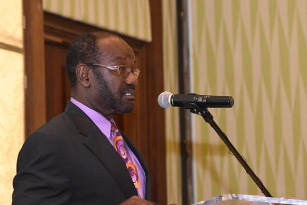 Randall Belgrave, Deputy Chairman of the BSE delivering the opening remarks.