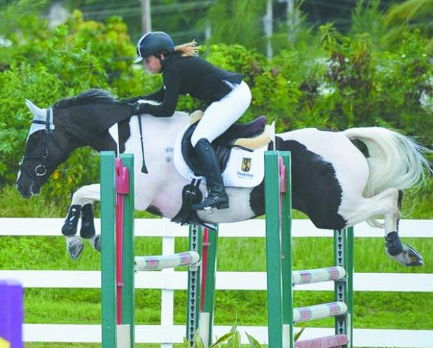 Paige Tryhane on-board Daisy in one of their two clear rounds this past Saturday.