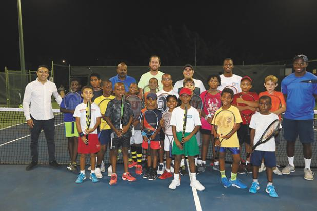 Fun was had by all in the Barbados Cup Junior Tennis tournament Youth clinic at the Barbados Tennis Centre.