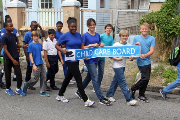 The Child Care Board was one of the organisations represented by students on the Walk.