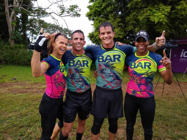 Obstakillers, from left Dominique Marshall, Stuart Maloney, Mark Jordan and Kim Sealy captured their third consecutive BAR title.