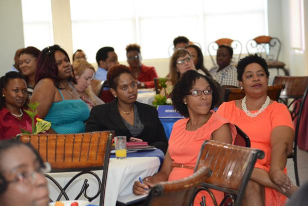 Persons in attendance at the Breakfast Business Forum at UWI.