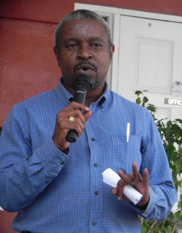 Acting Chief Medical Officer, Dr. Kenneth George, as he spoke at the World Health Day Extravaganza.