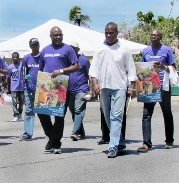 Attorney general adriel brathwaite left forefront and other men
