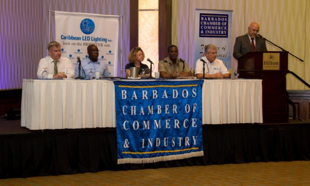 Select representatives from some of the key stakeholder companies within the RE landscape of Barbados formed the panel moderated by Jim Reid – Caribbean LED Lighting Inc.