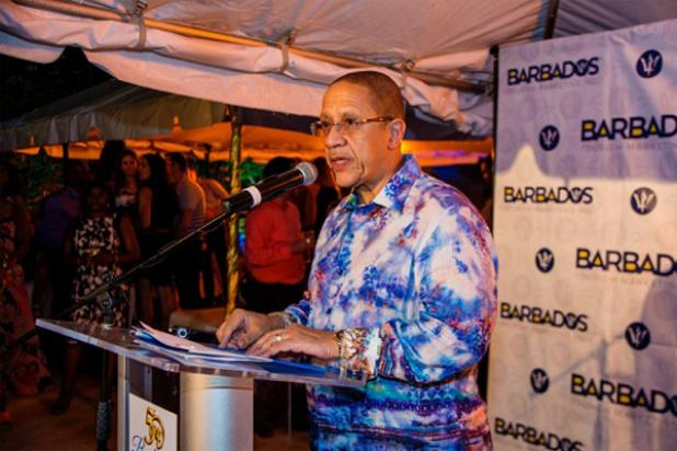 BTMI CEO, William Griffith, greeting participants in Connect Barbados 50 at the illustrious Parliament of Barbados.