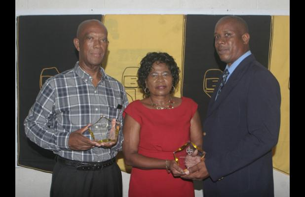 Educators, William Grazette and Angela Butcher, were recognised by the Barbados Union of Teachers' (BUT) President, Pedro Shepherd, for their contribution to the profession – each serving 40 years – during the President's Reception on Monday night.