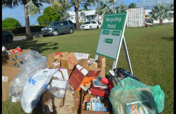 One of the Recycling collection points for paper products. INSET: Co-ordinator of the Atlantic Shores Network (ASN) Recycling Initiative, Shari Lobo, wants to see more communities embrace recycling.