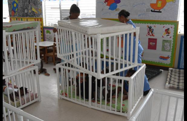 CCB staff worked quickly to ensure that the little ones were secure and protected from falling debris during the earthquake.