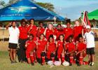 In this Peter Marshall photograph, The Trinidad All Stars were winners of the first ever Get Into Rugby – Barbados tournament.