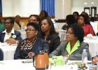 Some of those in attendance at the Barbados Association of Office Professionals seminar at the Lloyd Erskine Sandiford Centre to mark Administrative Professionals' Day yesterday.