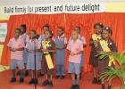 Students of Welches Primary as they performed during the entertainment segment.